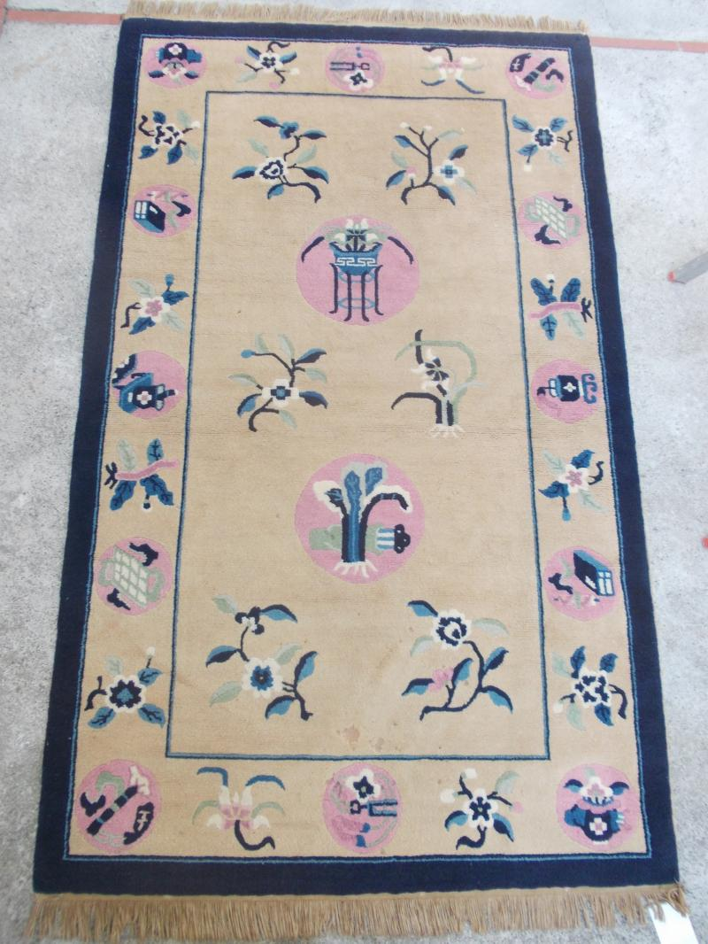 tapis chine chinois fait main ann es 50 60 ebay. Black Bedroom Furniture Sets. Home Design Ideas